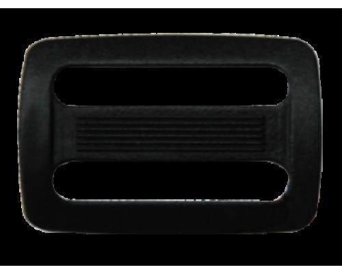 Пряжка двухщелевая, 25 мм, цв. черный
