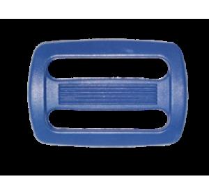 Пряжка двухщелевая, 20 мм, цв. синий
