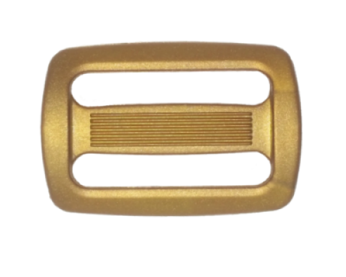 Пряжка двухщелевая, 20 мм, золото