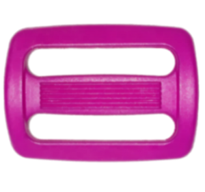 Пряжка двухщелевая, 30 мм, сиреневая