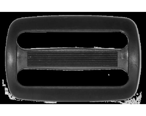 Пряжка двухщелевая, 40 мм, черная