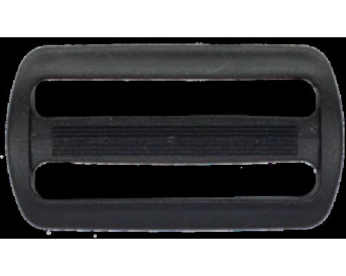 Пряжка двухщелевая, 50 мм, черная