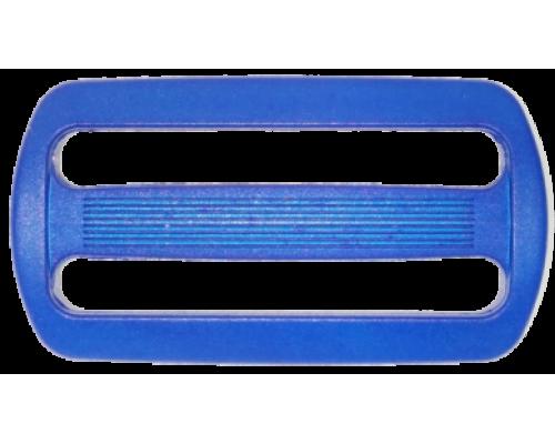 Пряжка двухщелевая, 50 мм, василек