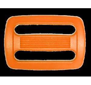 Пряжка двухщелевая, 25 мм, оранжевая