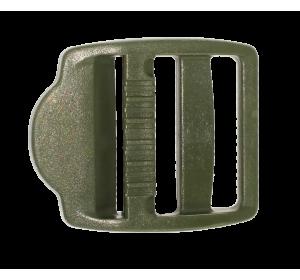 Пряжка трехщелевая, 25 мм, цв. хаки