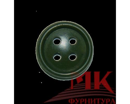 Пуговица 14 мм (аминопласт) цв. оливковый