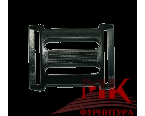Пряжка четырехщелевая, 25 мм, цв. черный