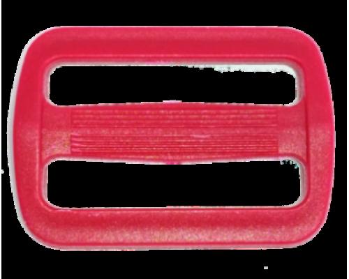 Пряжка двухщелевая, 30 мм, красная