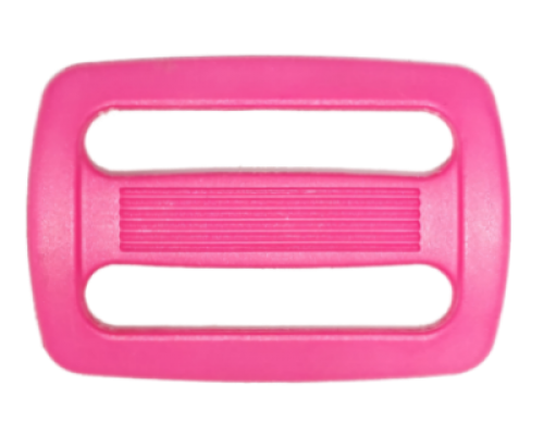 Пряжка двухщелевая, 25 мм, розовая