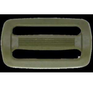 Пряжка двухщелевая, 50 мм, хаки