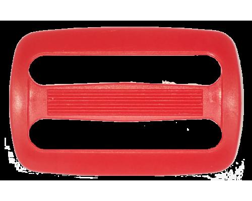 Пряжка двухщелевая, 40 мм, красная