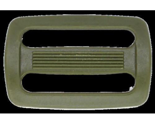 Пряжка двухщелевая, 40 мм, хаки
