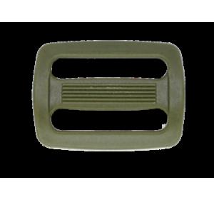 Пряжка двухщелевая, 20 мм, цв. хаки