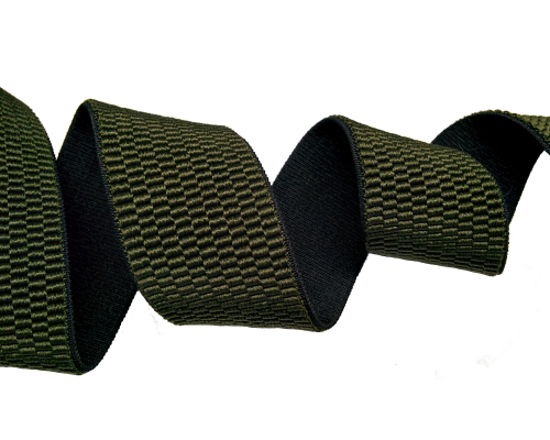 Резинка помочная 40 мм, хаки