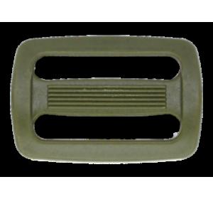 Пряжка двухщелевая, 25 мм, цв. хаки