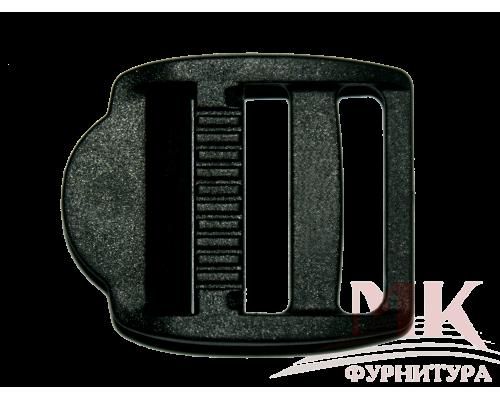 Пряжка трехщелевая, 25 мм, цв. черный