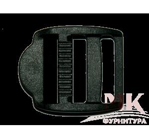 Пряжка трехщелевая, 30 мм, черная