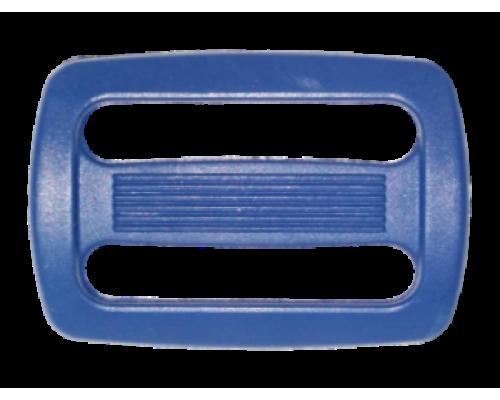 Пряжка двухщелевая, 25 мм, синяя
