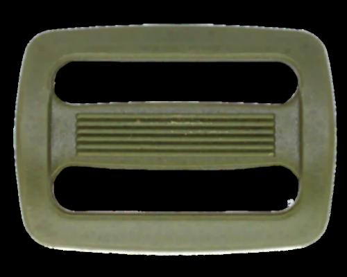 Пряжка двухщелевая, 30 мм, хаки