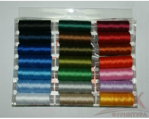Нитки швейные цветные