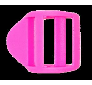 Пряжка крыло, 25 мм, розовая