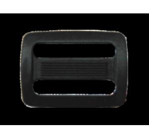 Пряжка двухщелевая, 20 мм, цв.черный