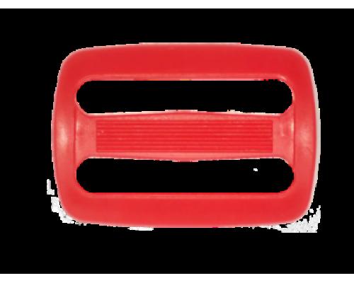 Пряжка двухщелевая, 20 мм, цв. красный