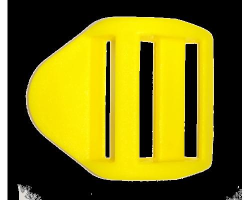 Пряжка крыло, 25 мм, желтая