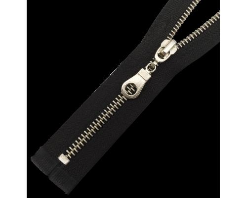 Молния Т8 металлическая никель, размеры от 16 до 18 см