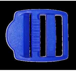 Пряжка трехщелевая, 25 мм, синяя