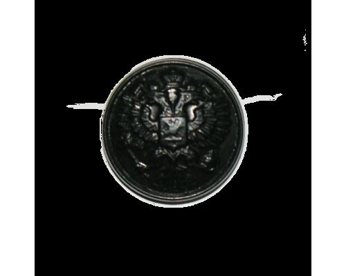 Пуговица с гербом 14 мм (черный)