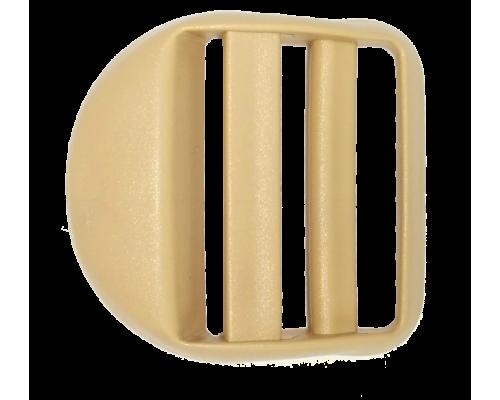 Пряжка крыло, 30 мм, бежевая