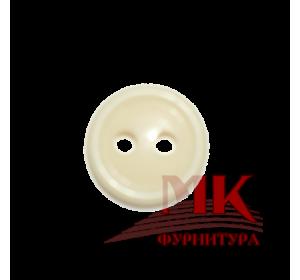 Пуговица аминопласт 11 мм (кремовый)