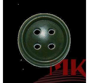 Пуговица 17 мм (аминопласт) цв. оливковый