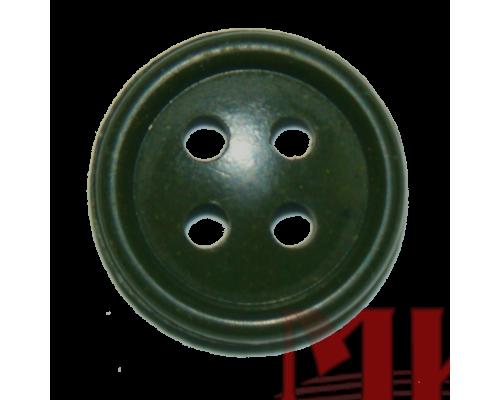 Пуговица 23 мм (аминопласт) цв. оливковый