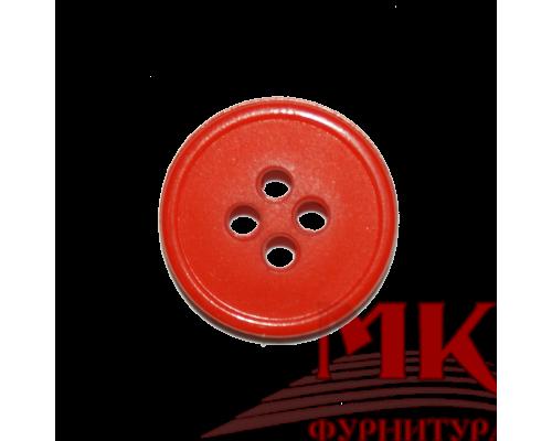 Пуговица полиамид 18 мм оранжевая